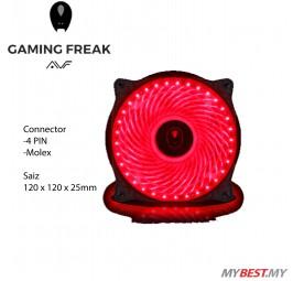 AVF GAMING FREAK 33 X LED PC FAN (ARGUS33) - RED