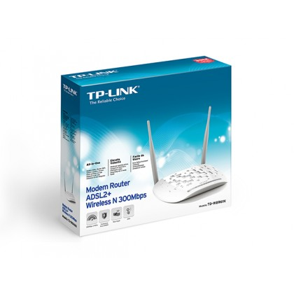 TP-LINK Modem Router ADSL2+ Wireless N 300Mbps TD-W8961N