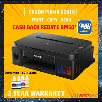 Canon PIXMA G2010 Refillable Ink Tank All-In-One Printer (*FREE Touch n Go credit RM50, )