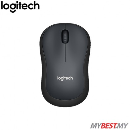 Logitech M221 Silent Wireless Mouse (Charcoal)