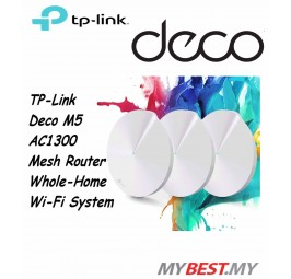 TP-Link Deco M5 AC1300 MU-MIMO Dual-Band Whole Home Wi-Fi System