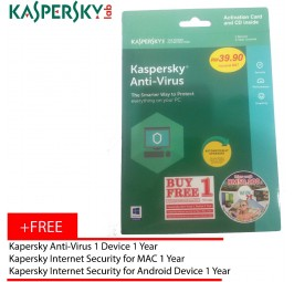 Kaspersky Anti-Virus 2018 1D1Y