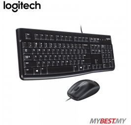 Logitech Desktop MK120 Wired Keyboard & Mouse Combo