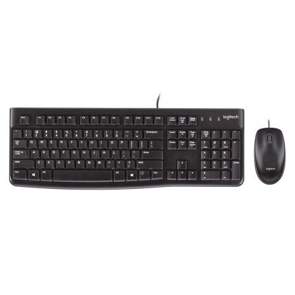 Logitech Desktop MK120 Wired Keyboard & Mouse Combo