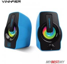 Vinnfier ICON 505 USB Powered 2.0 Speaker (Blue)