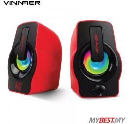 Vinnfier ICON 505 USB Powered 2.0 Speaker (Red)