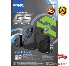 Salpido G5 Revolve 2.1 With Bt,Fm,Usb,Led Display,Rc Multimedia Speaker