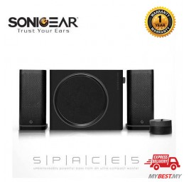 Space 5 Hi-Fi Bluetooth Speaker with TF Card/ USB Mp3 Music Playback Free Earset By SonicGear