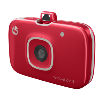 HP Sprocket 2 in 1 Photo Printer Red