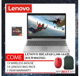 """Lenovo Ideapad L340-15API 81LW0042MJ 15.6"""" Laptop Platinum ( R3 3200U, 4GB, 1TB, Integrated, W10 )"""