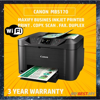 Canon Maxify MB5170 All in 1 Inkjet Printer (Print, Scan, Copy, Fax, WiFi)