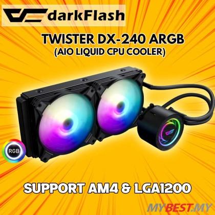 AIGO DARKFLASH TWISTER DX240 aRGB BLACK