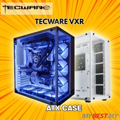 TECWARE VXR TG PREMIUM ATX GAMING CASE - BLACK -