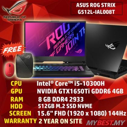 "ASUS ROG STRIX G15 G512L-IAL008T GAMING (I5-10300H,8GB,512GB SSD,15.6"" FHD,144Hz,GTX1650TI 4GB,WIN10) FREE BACKPACK"