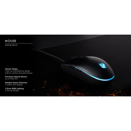 Tecware IGNITE 3 in 1 Single Color LED TKL 87 Mechanical Gaming Keyboard + Mouse + Mouse mat