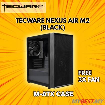 TECWARE NEXUS AIR M2 TG (Black) Matx Casing [High Airflow Focused]