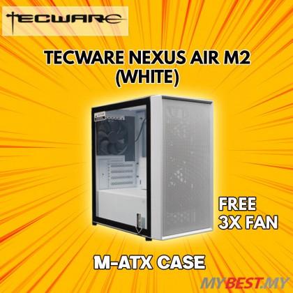 TECWARE NEXUS AIR M2 TG (WHITE) MATX CASING [HIGH AIRFLOW FOCUSED]