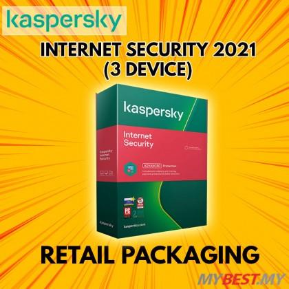 KASPERSKY INTERNET SECURITY 2021 [1 YEAR 3 USER]