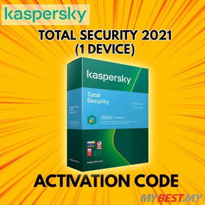 KASPERSKY TOTAL SECURITY 2021 1 DEVICES 1 YEAR