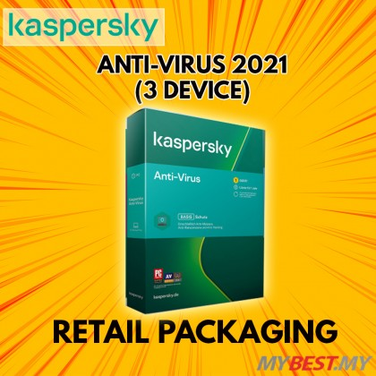Kaspersky AntiVirus 2021 3 Devices 1 Year