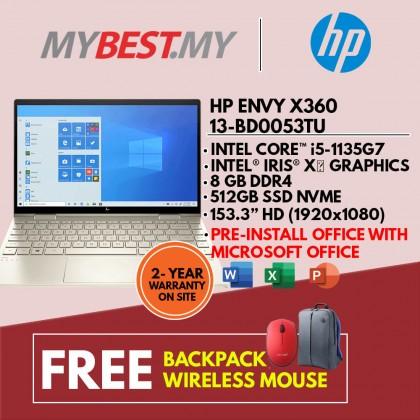 "HP Envy x360 13-bd0053TU 13.3"" FHD Touch Screen Laptop(Intel i5-1135G7/ 8GB/ 512GB SSD/ Intel Iris Xe Graphics/ W10+H&S)"