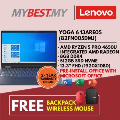"LENOVO YOGA 6 13ARE05 82FN005DMJ LAPTOP (RYZEN 5 PRO 4650U,8GB,512GB SSD,13.3"" FHD TOUCH,VEGA 6,WIN10)"