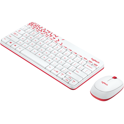 Logitech MK240 NANO Wireless Keyboard and Mouse Combo (White)