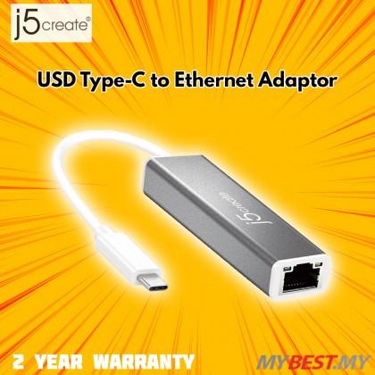 J5 CREATE USB TYPE-C TO ETHERNET ADAPTER (JCE133G)