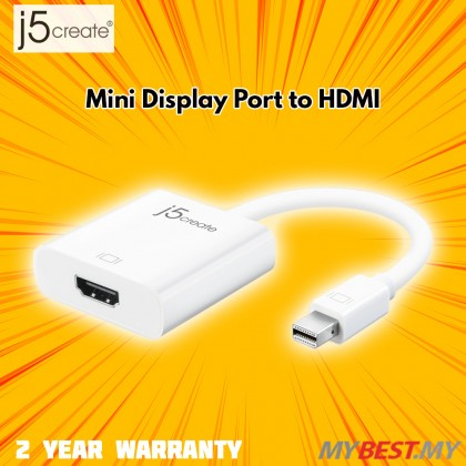J5 CREATE MINI DISPLAY PORT TO HDMI (JDA152)