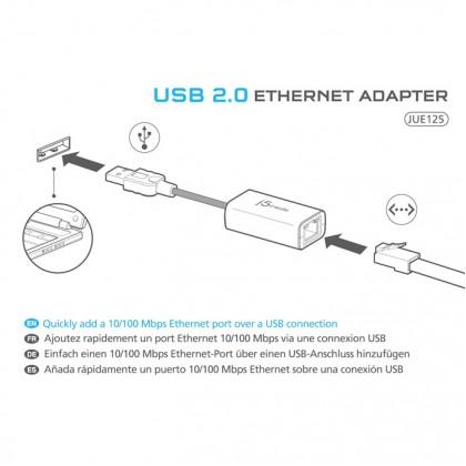 J5 CREATE USB 2.0 ETHERNET ADAPTER (JUE125)