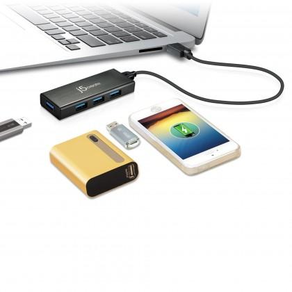 J5 CREATE USB 3.0 TO 4 PORT MINI HUB WITH W/O ADAPTER (JUH340N)